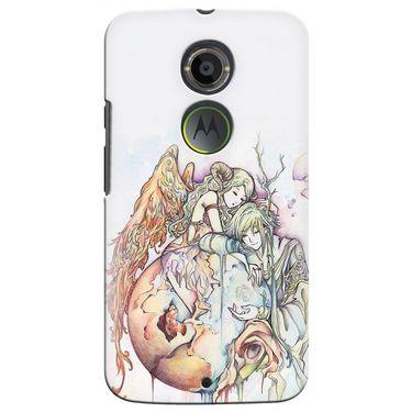 Snooky 35936 Digital Print Hard Back Case Cover For Motorola Moto X2 - Multicolour