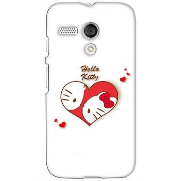 Snooky 38600 Digital Print Hard Back Case Cover For Motorola Moto G - White