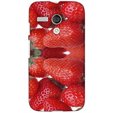 Snooky 38609 Digital Print Hard Back Case Cover For Motorola Moto G - Red