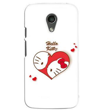 Snooky 38650 Digital Print Hard Back Case Cover For Motorola Moto G 2nd Gen - White