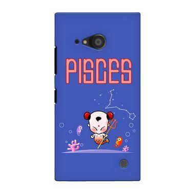 Snooky 38089 Digital Print Hard Back Case Cover For Nokia Lumia 735 - Purple