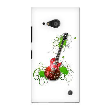 Snooky 38101 Digital Print Hard Back Case Cover For Nokia Lumia 735 - White