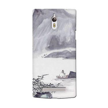 Snooky 36665 Digital Print Hard Back Case Cover For Oppo Find 7 - Grey