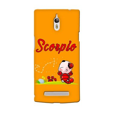 Snooky 36684 Digital Print Hard Back Case Cover For Oppo Find 7 - Yellow