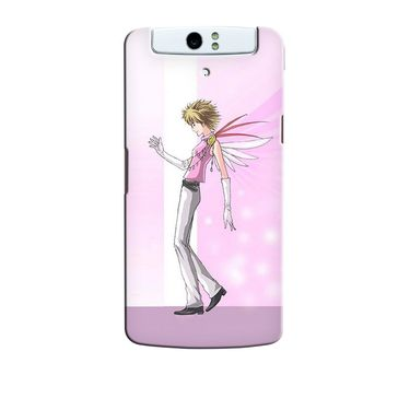 Snooky 36721 Digital Print Hard Back Case Cover For Oppo N1 - Pink