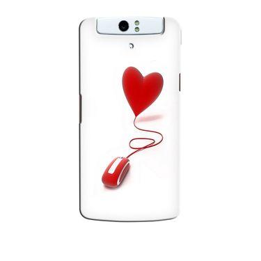 Snooky 36752 Digital Print Hard Back Case Cover For Oppo N1 - White