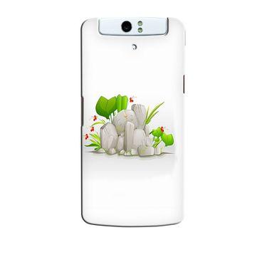 Snooky 36755 Digital Print Hard Back Case Cover For Oppo N1 - White