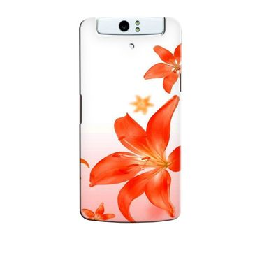 Snooky 36764 Digital Print Hard Back Case Cover For Oppo N1 - White