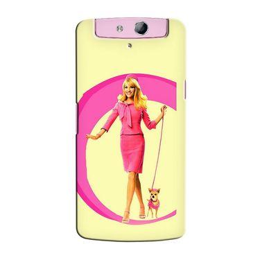 Snooky 36767 Digital Print Hard Back Case Cover For Oppo N1 Mini N5111 - Yellow