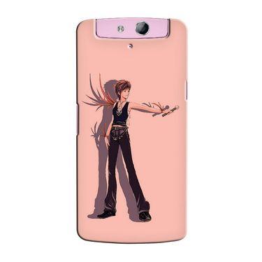 Snooky 36772 Digital Print Hard Back Case Cover For Oppo N1 Mini N5111 - Mehroon