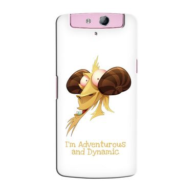 Snooky 36798 Digital Print Hard Back Case Cover For Oppo N1 Mini N5111 - White