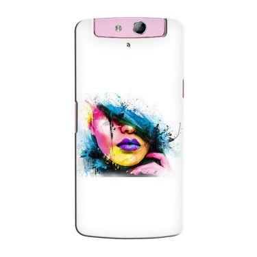 Snooky 36803 Digital Print Hard Back Case Cover For Oppo N1 Mini N5111 - White