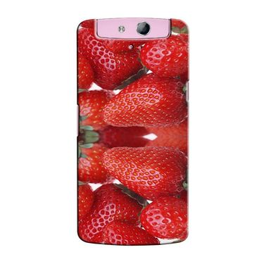 Snooky 36809 Digital Print Hard Back Case Cover For Oppo N1 Mini N5111 - Red