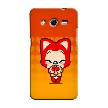 Snooky 35480 Digital Print Hard Back Case Cover For Samsung Galaxy Core 2 - Orange