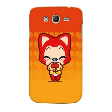 Snooky 35530 Digital Print Hard Back Case Cover For Samsung Galaxy Grand 2 - Orange
