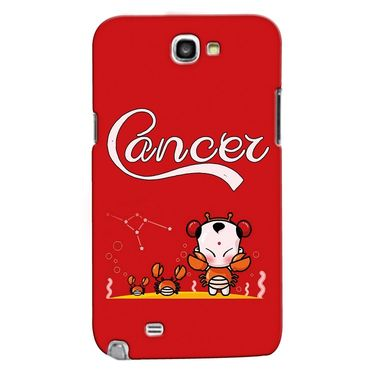 Snooky 35601 Digital Print Hard Back Case Cover For Samsung Galaxy Note 2 N7100 - Red