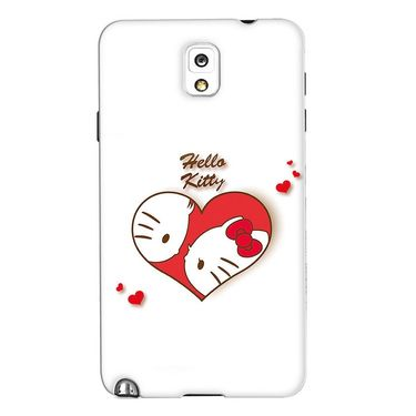 Snooky 35669 Digital Print Hard Back Case Cover For Samsung Galaxy Note 3 N900  - White