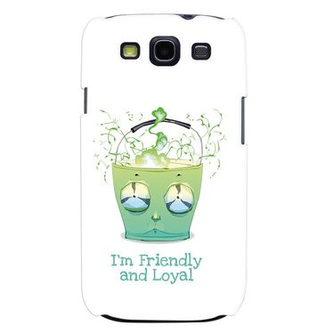 Snooky 35716 Digital Print Hard Back Case Cover For Samsung Galaxy S3 I9300 - White