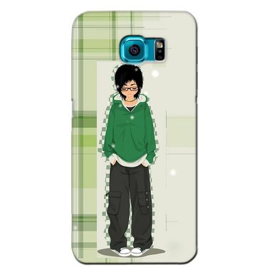 Snooky 36225 Digital Print Hard Back Case Cover For Samsung Galaxy S6 Edge - Green