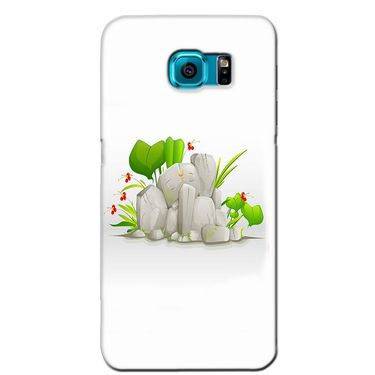 Snooky 36255 Digital Print Hard Back Case Cover For Samsung Galaxy S6 Edge - White
