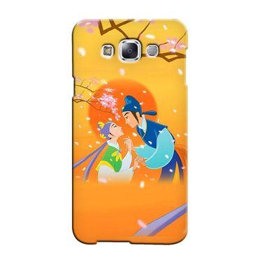 Snooky 36268 Digital Print Hard Back Case Cover For Samsung Galaxy A3 - Orange