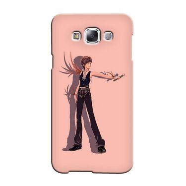 Snooky 36322 Digital Print Hard Back Case Cover For Samsung Galaxy A5 - Mehroon