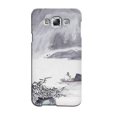 Snooky 36365 Digital Print Hard Back Case Cover For Samsung Galaxy A7 - Grey