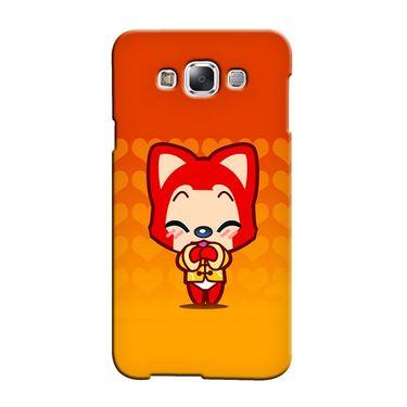 Snooky 36411 Digital Print Hard Back Case Cover For Samsung Galaxy A7 - Orange