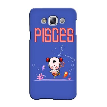 Snooky 36439 Digital Print Hard Back Case Cover For Samsung Galaxy E5 - Purple