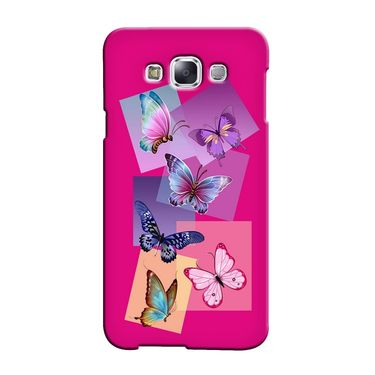 Snooky 36454 Digital Print Hard Back Case Cover For Samsung Galaxy E5 - Pink