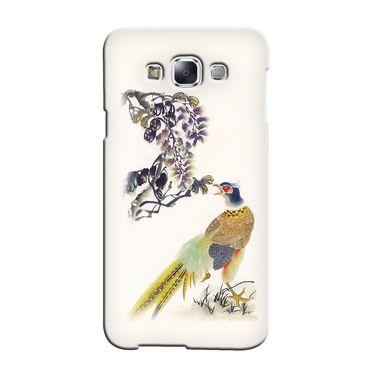 Snooky 36466 Digital Print Hard Back Case Cover For Samsung Galaxy E7 - Cream