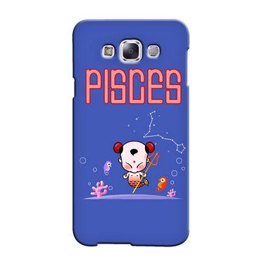 Snooky 36489 Digital Print Hard Back Case Cover For Samsung Galaxy E7 - Purple