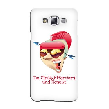 Snooky 36494 Digital Print Hard Back Case Cover For Samsung Galaxy E7 - White