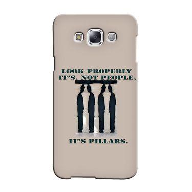 Snooky 36499 Digital Print Hard Back Case Cover For Samsung Galaxy E7 - Cream