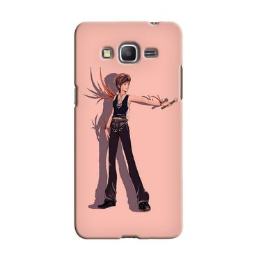 Snooky 36572 Digital Print Hard Back Case Cover For Samsung Galaxy Grand Prime - Mehroon