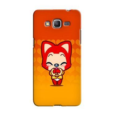 Snooky 36611 Digital Print Hard Back Case Cover For Samsung Galaxy Grand Prime - Orange