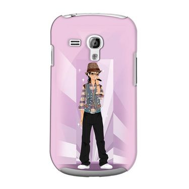 Snooky 36823 Digital Print Hard Back Case Cover For Samsung Galaxy S3 Mini - Pink