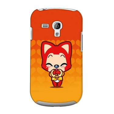 Snooky 36861 Digital Print Hard Back Case Cover For Samsung Galaxy S3 Mini - Orange