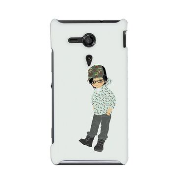 Snooky 36920 Digital Print Hard Back Case Cover For Sony Xperia SP - Green
