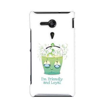 Snooky 36947 Digital Print Hard Back Case Cover For Sony Xperia SP - White