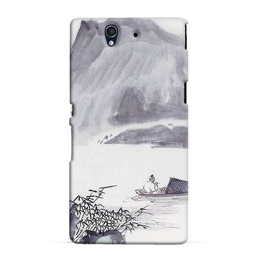 Snooky 37015 Digital Print Hard Back Case Cover For Sony Xperia Z C6602 - Grey