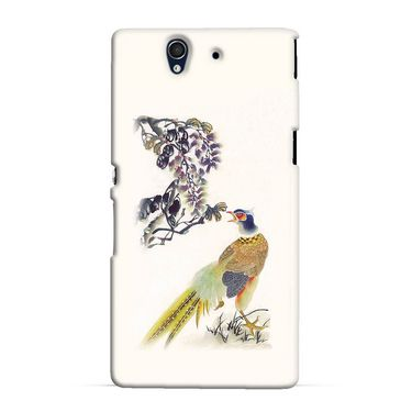 Snooky 37016 Digital Print Hard Back Case Cover For Sony Xperia Z C6602 - Cream