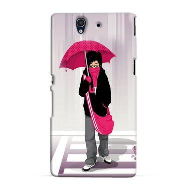 Snooky 37024 Digital Print Hard Back Case Cover For Sony Xperia Z C6602 - Multicolour