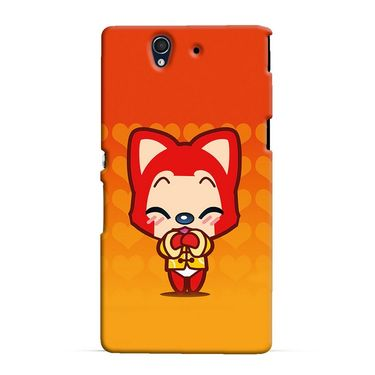Snooky 37061 Digital Print Hard Back Case Cover For Sony Xperia Z C6602 - Orange