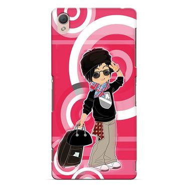 Snooky 37179 Digital Print Hard Back Case Cover For Sony Xperia Z3 - Rose Pink