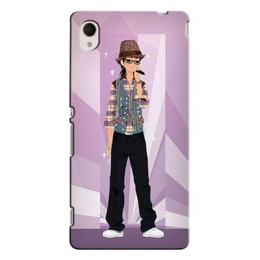 Snooky 37823 Digital Print Hard Back Case Cover For Sony Xperia M4 AQUA DUAL - Pink