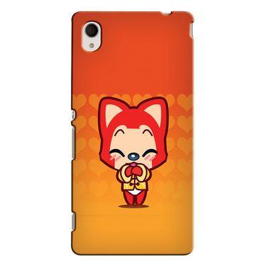 Snooky 37861 Digital Print Hard Back Case Cover For Sony Xperia M4 AQUA DUAL - Orange