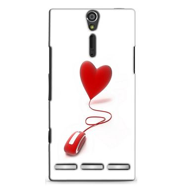Snooky 37902 Digital Print Hard Back Case Cover For Sony Xperia S - White