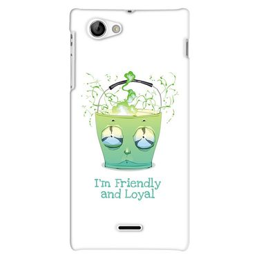 Snooky 38697 Digital Print Hard Back Case Cover For Sony Xperia J - White