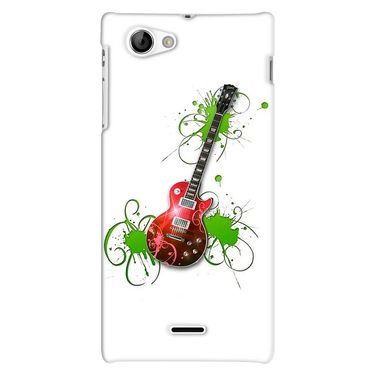 Snooky 38701 Digital Print Hard Back Case Cover For Sony Xperia J - White